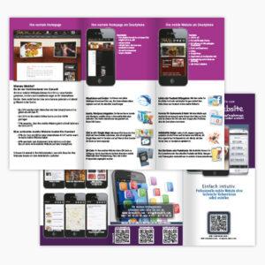 Faltblatt, Broschüre und Kataloge
