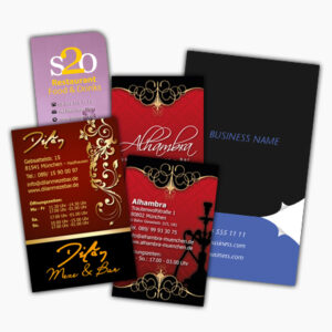 Visitenkarten, Briefbögen und Kuverts