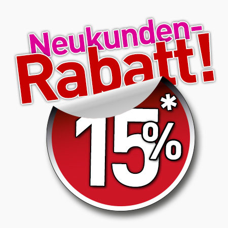 15 Prozent Neukunden Rabatt