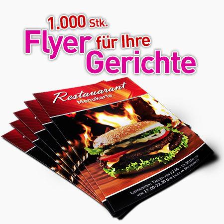 1000 A5 Flyer für Ihre Gerichte 2seitig Gastronomie