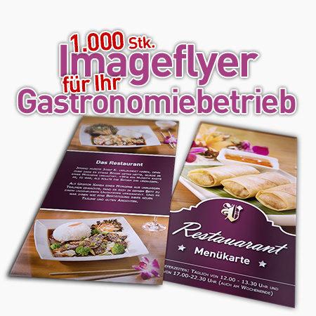 1000 Imageflyer 2seitig für Ihr Gastronomiebetrieb