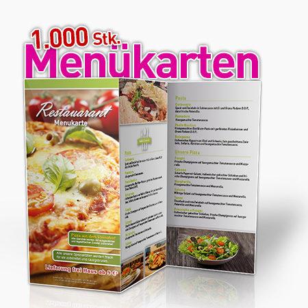 1000 Stk. Menükarten 6seitig für Ihre Gastronomie