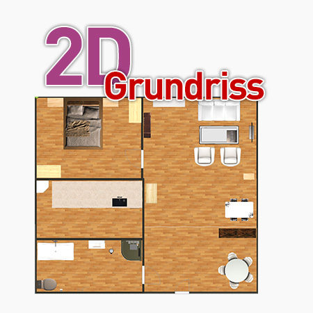 2D Grundriss für Immobilienmakler