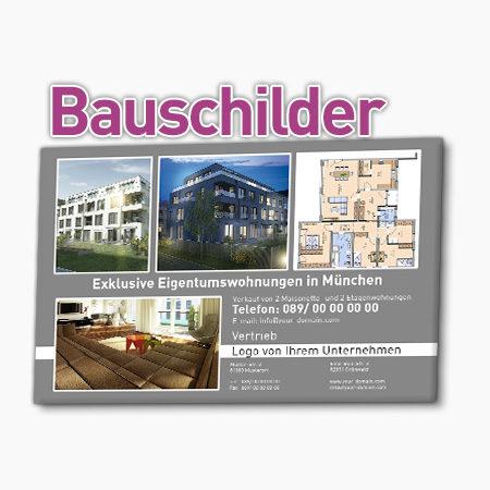 Bauschilder für Immobilienmakler