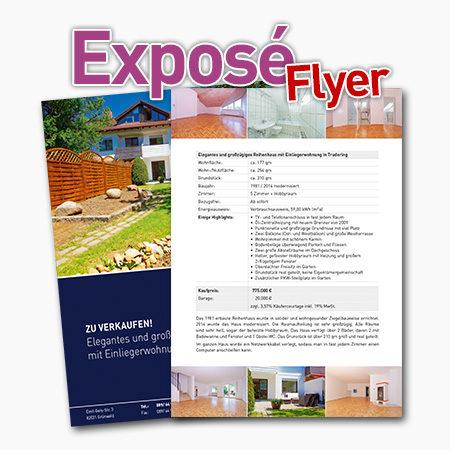 Expose Flyer für Immobilienmakler