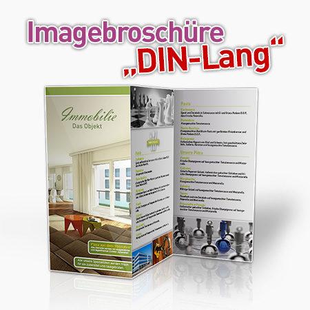 Imagebroschüre DIN-Lang für Immobilienmakler