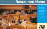 Postkarten-A6 Vorlage - Layout zur Auswahl für Gastronomie und Hotel 1