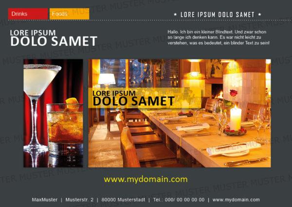 Postkarten-A6 Vorlage - Layout zur Auswahl für Gastronomie und Hotel 18