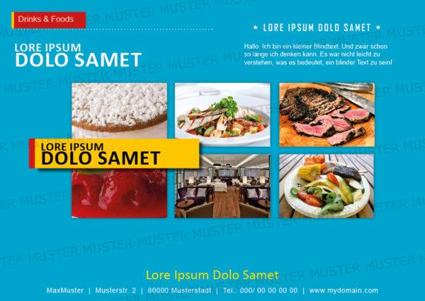 Postkarten-A6 Vorlage - Layout zur Auswahl für Gastronomie und Hotel 19