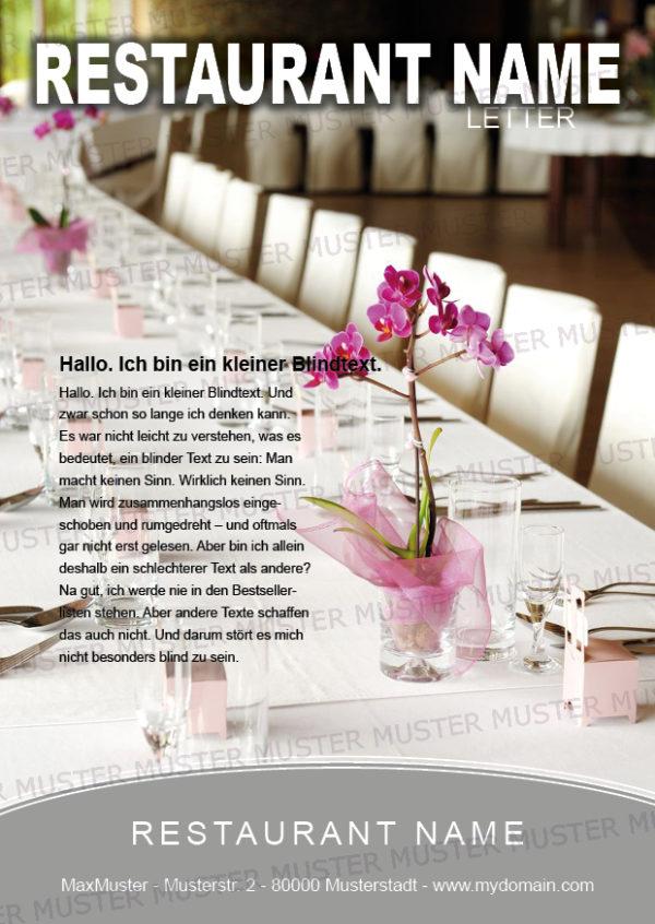 Postkarten-A6 Vorlage - Layout zur Auswahl für Gastronomie und Hotel 22