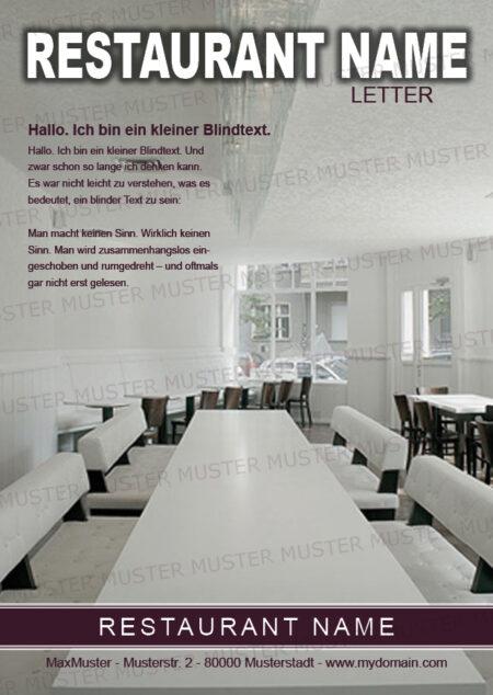 Postkarten-A6 Vorlage - Layout zur Auswahl für Gastronomie und Hotel 23