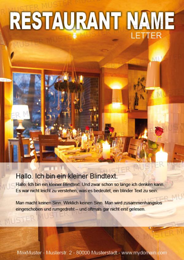 Postkarten-A6 Vorlage - Layout zur Auswahl für Gastronomie und Hotel 24