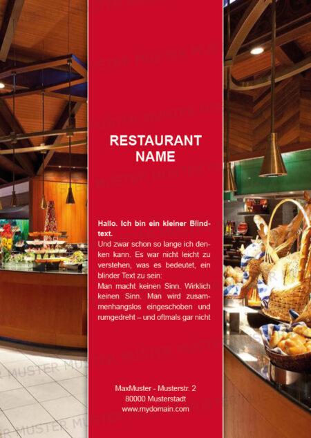 Postkarten-A6 Vorlage - Layout zur Auswahl für Gastronomie und Hotel 25