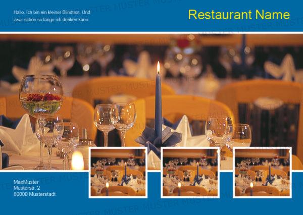 Postkarten-A6 Vorlage - Layout zur Auswahl für Gastronomie und Hotel 3
