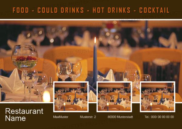 Postkarten-A6 Vorlage - Layout zur Auswahl für Gastronomie und Hotel