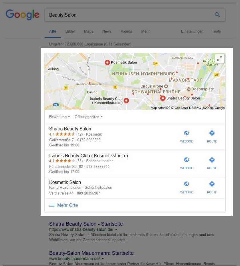 Beauty-Salon-Google-Map-Enthaarung-lokale-Google-Map-Friseur-Salon-PVC-Banner-Beauty-Branche-Nageldesign-SEA-Beauty-DNZ-Networks