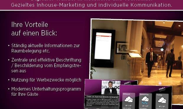 Digital Signage Hotel Digitale Beschilderung Tourismus Branche Hotel Pension DNZ-Networks