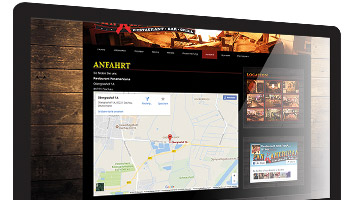 Restaurant Homepage Anfahrtsmap Webdesign Gastronomie Routenplaner WordPress - DNZ-Networks.com
