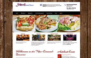 Restaurant Homepage-Gastronomie Bayerisches Wirtshaus Webdesign Template WordPress - DNZ-Networks.com