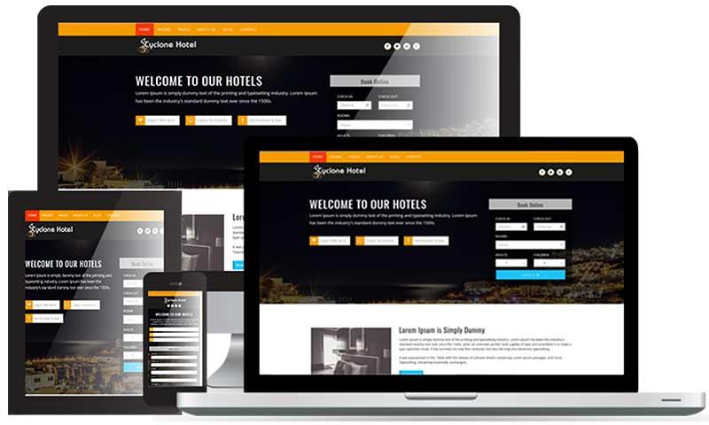 Webdesign Hotel WordPress Tourismus Branche Hotel Pension - DNZ Netowrks