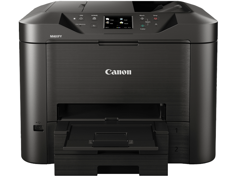 Front CANON-MAXIFY-MB5350-Tintenstrahl-4-in-1-Tinten-Multifunktionsdrucker-WLAN-Netzwerkfähig - DNZ Networks