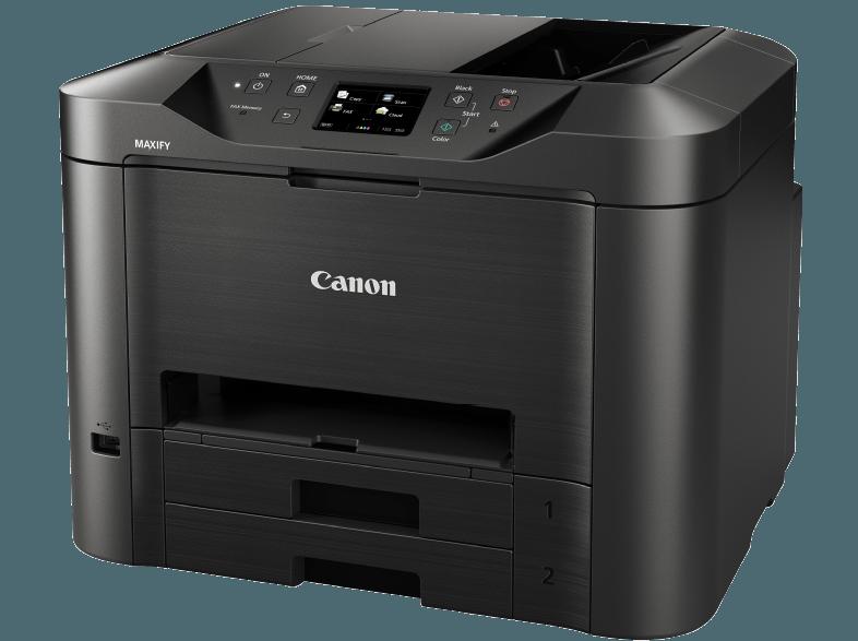 Side-CANON-MAXIFY-MB5350-Tintenstrahl-4-in-1-Tinten-Multifunktionsdrucker-WLAN-Netzwerkfähig