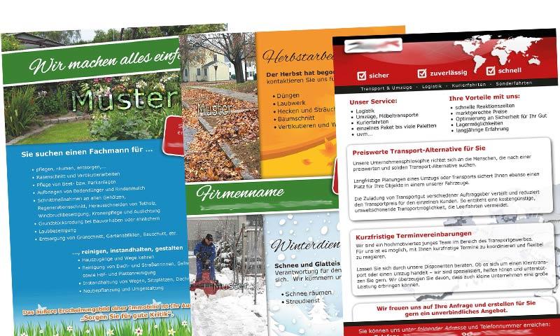 Visitenkarte Flyer Firmenbroschüre Für Handwerker Dnz