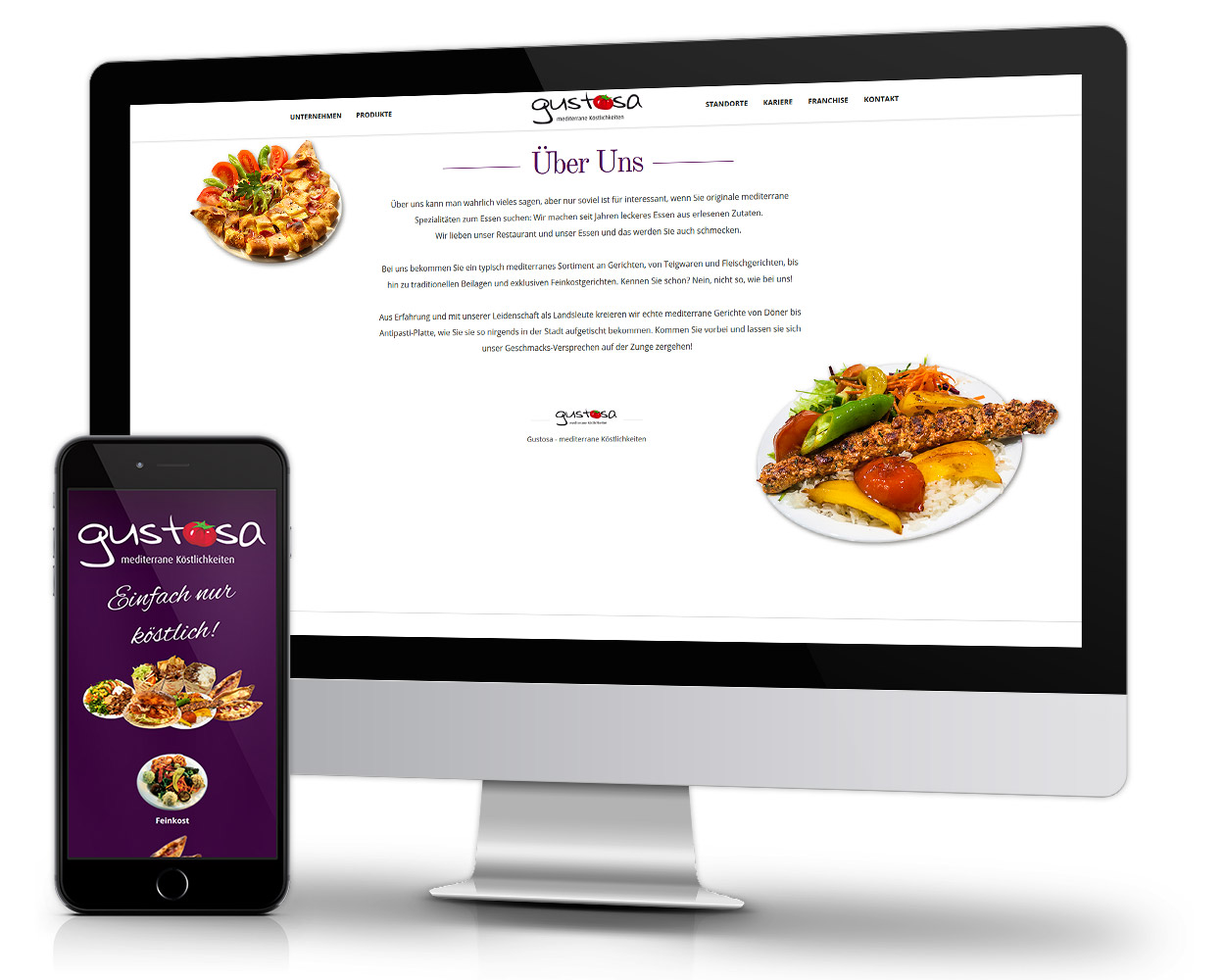 Responsiv Restaurant Webdesign Mobile Optimiert Homepage erstellen Ref. Gustosa1 - DNZ Networks