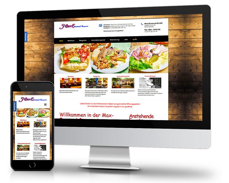 Responsiv-Restaurant-Webdesign-Mobile-Optimiert-Homepage-erstellen-Ref-MaxEmanuel-Bayerisch-Wirtshaus-DNZ-Networks