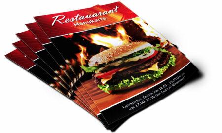 Speise-Flyer-Restaurants-Menukarte-Branche-Gastronomie-Speisekarte-DNZ-Networks