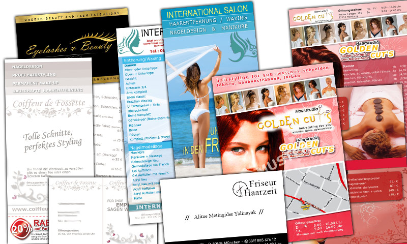 Wellness-Salon-Flyer-Enthaarung-Visitenkarte-Friseur-Salon-Grafik-Design-Beauty-Branche-Nageldesign-Bonuskarte-Beauty-DNZ-Networks