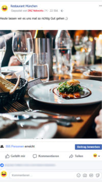 Facebook-Posting-Gutes-Essen-Restaurant-Facebook-Marketing-Gastronomie-DNZ-Networks
