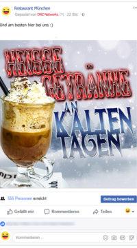 Facebook-Posting-Heiss-Kalt-Getraenk-Restaurant-Facebook-Marketing-Gastronomie1-DNZ-Networks