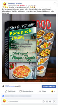 Facebook-Posting-MediPack-Restaurant-Facebook-Marketing-Gastronomie-DNZ-Networks