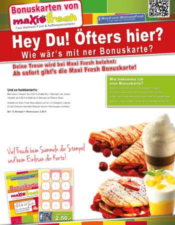 AufstellerA4-Bonuskarte-Freshfood1-Restaurants-Kaffee-Rabatt-Gastronomie-DNZ-Networks