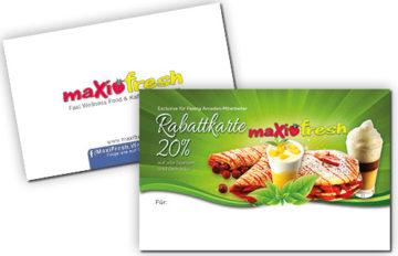 Visitenkarte – Rabattkarte Maxi Fresh