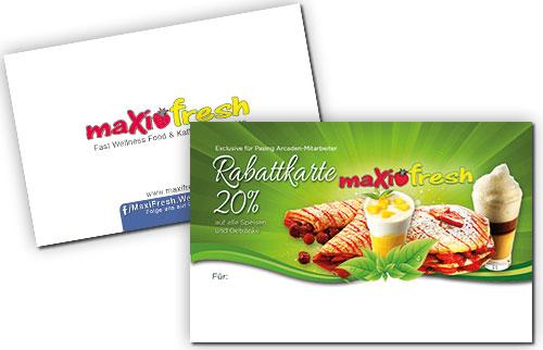 Visitenkarte - Rabattkarte Maxi Fresh