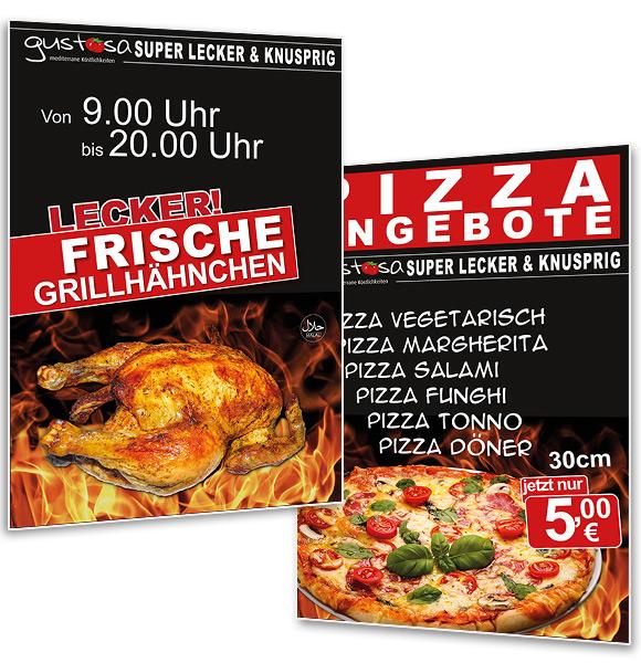 A1 Plakat Restaurant-Werbeplakat und Türstopper Imbiss, Asia, Döner, Burger Gastronomie - DNZ-Networks