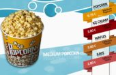 Candy Shop Digitale Menueboard Animation PopCorn Vorlage