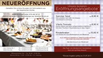 Neueröffnung Werbeflyer – DIN A6 Flyer – Gastronomie