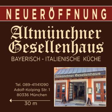 PVC Banner für Neueröffnung- Werbung – bayerisch, italienische Küche