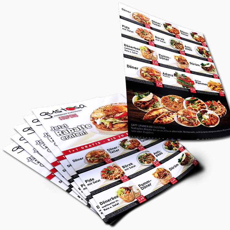 Coupon-Bogen-Gustosa-Doener-Abriss-Rabatt-Marken-Gastronomie-Lieferservice