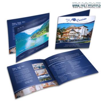 Hotel Enzian Achensee – Imagebroschüre 4-Seitig Gestaltung und Druck