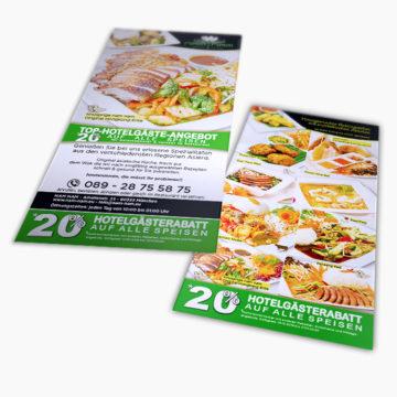 nam nam München Gestaltung DIN Lang Hotel Rabatt Flyer für Asia-/ Thai-Restaurant