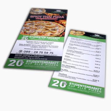 nam nam München – Gestaltung DIN Lang Rabatt Flyer für Asia-/ Thai-Restaurant