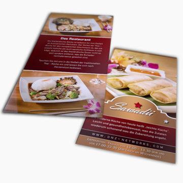 Thai Food München – Flyer DIN lang günstig gestalten & drucken lassen mit DNZ Networks