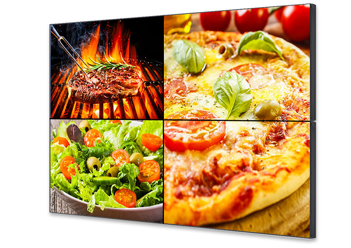 Digitale-Menuboard-Video-Wall-Burger-Salate-Gastronomie-Loesungen-DNZ-Networks