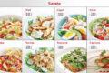 Menueboard-Salate