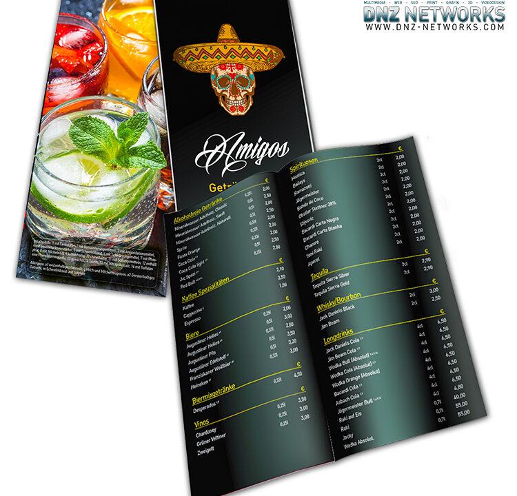 Getraenkekarte-A5Lang-Gastronomie-Speisekarte-Restaurant-DNZ-Networks